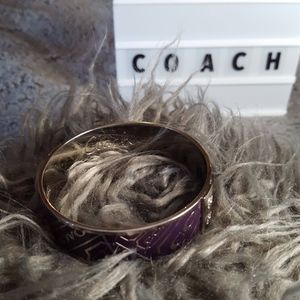 COACH purple&silver bangle for smaller wrist